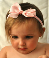 Girls Baby Grosgrain Ribbon Bow Headband Hairband Gift