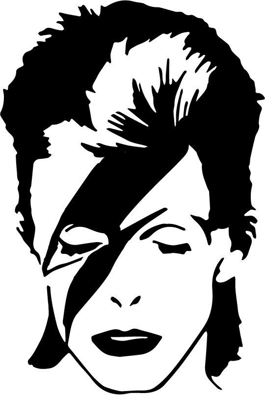 David Bowie Vinyl Decal Lightning Bolt Ziggy Stardust