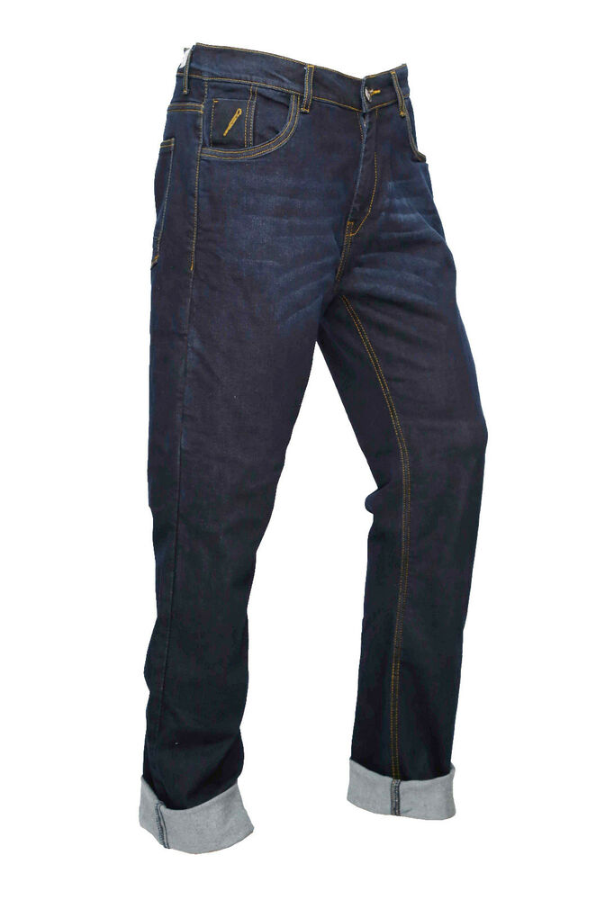motorcycle jeans pants reinforced with dupont kevlar blue plain wash ebay. Black Bedroom Furniture Sets. Home Design Ideas