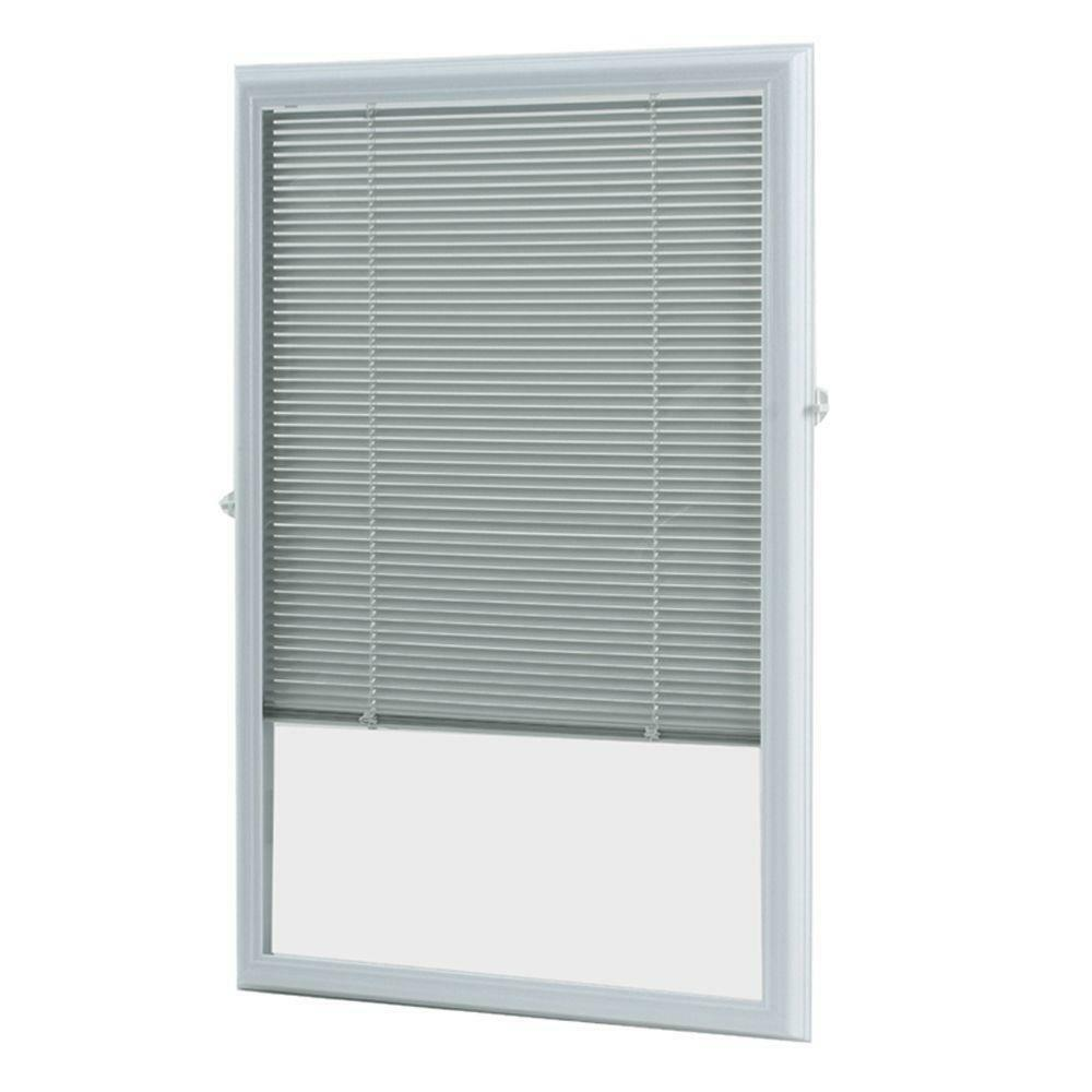 White Cordless 22 Quot X 36 Quot Aluminum Blinds Add On Raised