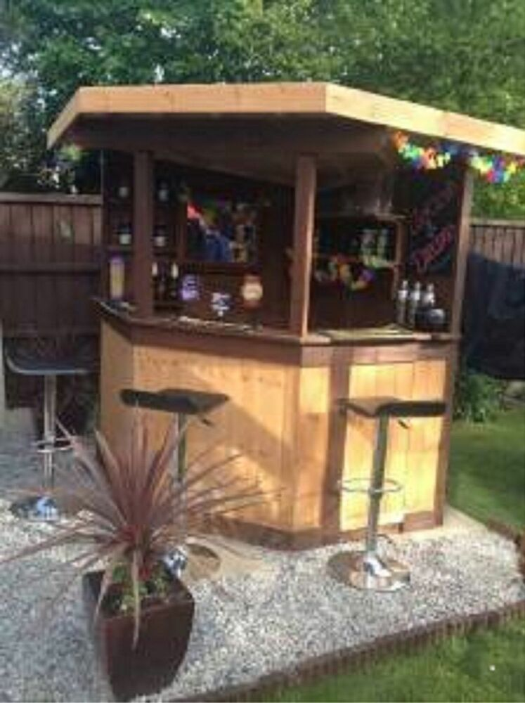 Man Cave Corner Bar : Ft deluxe corner garden bar pub entertaining area outdoor