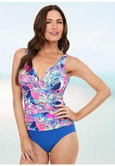 aae53395f36b Details about Maidenform Beach, Royal Paisley Shirred V-Neck One-Piece