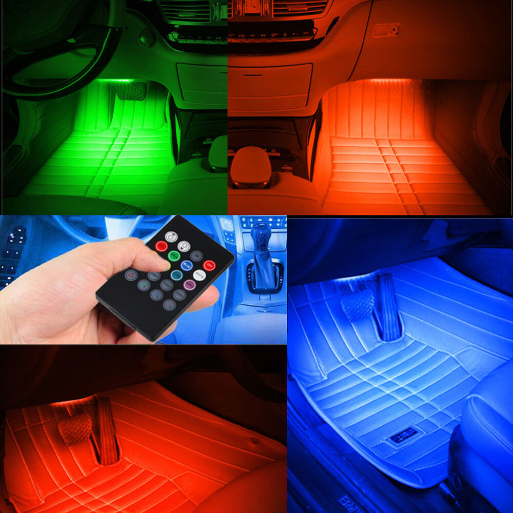 7 Color Rgb Led Neon Strip Light Music Remote Control For