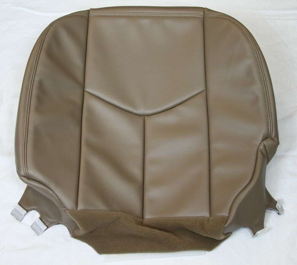 2003 2004 2005 2006 chevy silverado truck driver synth leather seat cover tan ebay. Black Bedroom Furniture Sets. Home Design Ideas