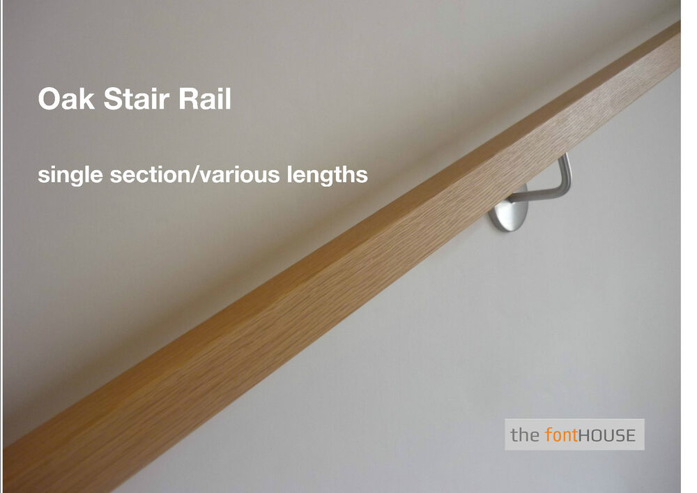 Modern Square Section Oak Handrail Free Delivery Ebay