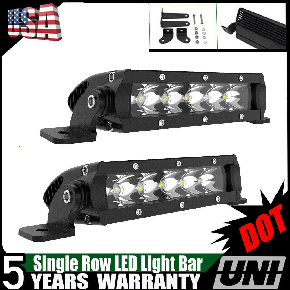 High Power 200w 20 Inch Jeep Accessories Led Light Bar For: 2X 30W 7 8 INCH CREE Single Row LED Light Bar Slim Spot