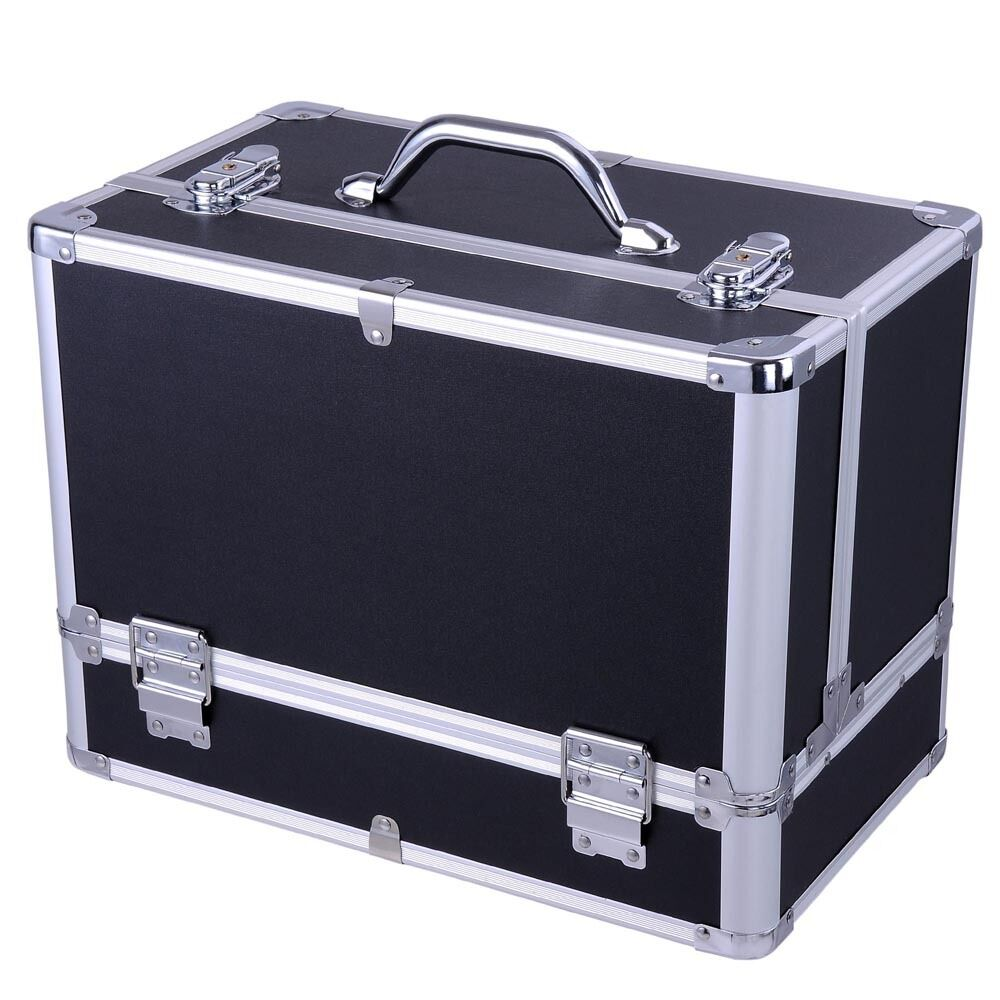 professional beauty make up box nail jewelry cosmetic vanity case large storage ebay. Black Bedroom Furniture Sets. Home Design Ideas