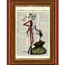 Jack Skellington Dictionary Art Print Picture Poster Nightmare before Christmas