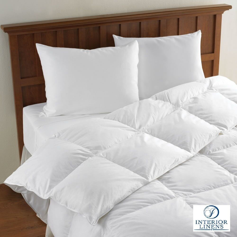 comforters duvet inserts white goose feather down available in all sizes ebay. Black Bedroom Furniture Sets. Home Design Ideas