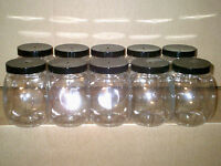 10 Plastic Cookie Sweet Candy Jar with Screw Lid