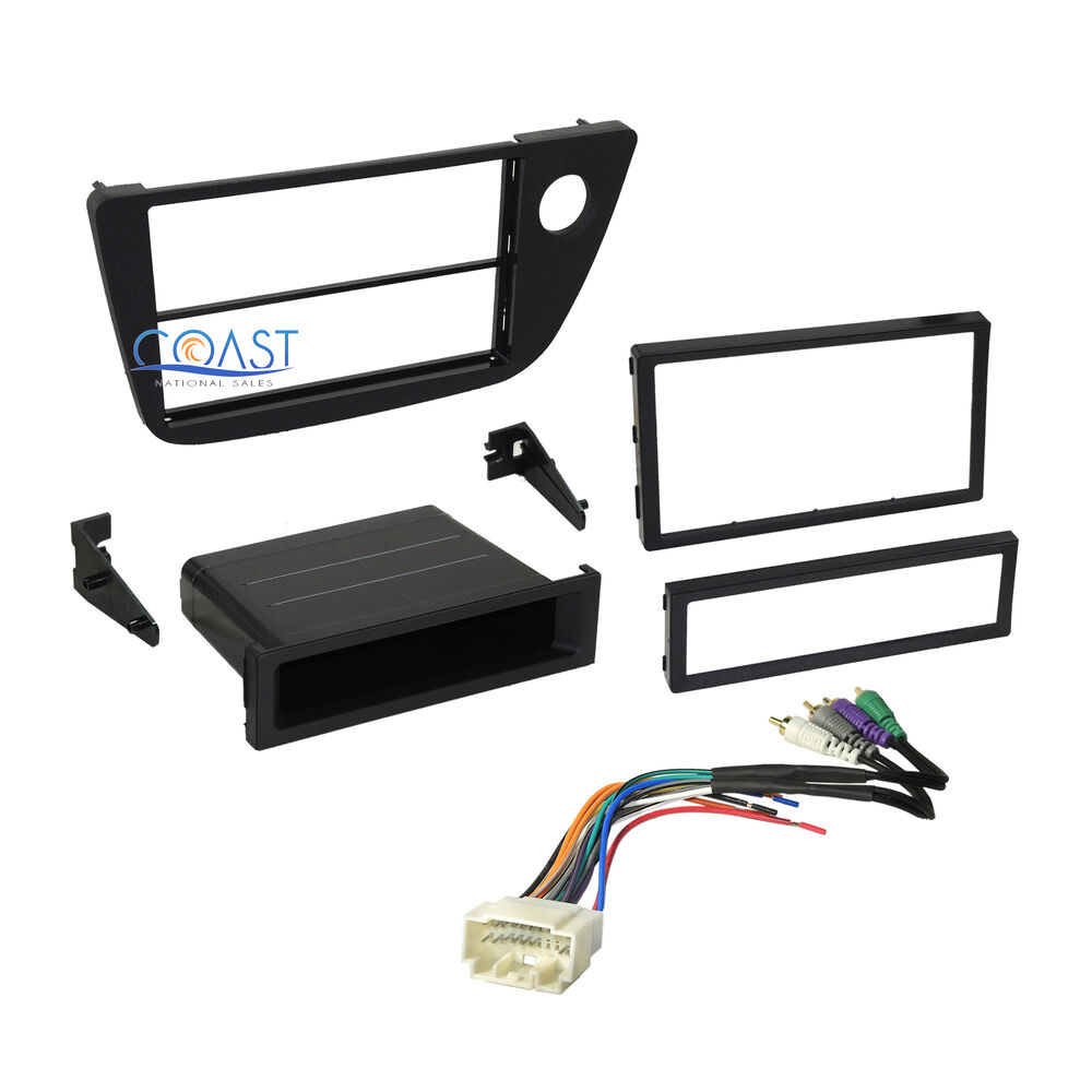 Car Radio Stereo Dash Kit With Amplified Harness Combo For