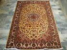 CREAM FLOWRAL HOT HAND KNOTTED RUG WOOL SILK CARPET 6X4
