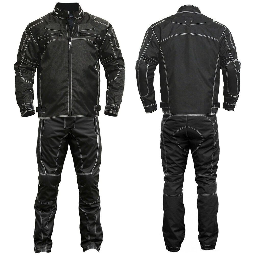 germanwear 2 teiler motorradkombi textilien motorradjacke. Black Bedroom Furniture Sets. Home Design Ideas