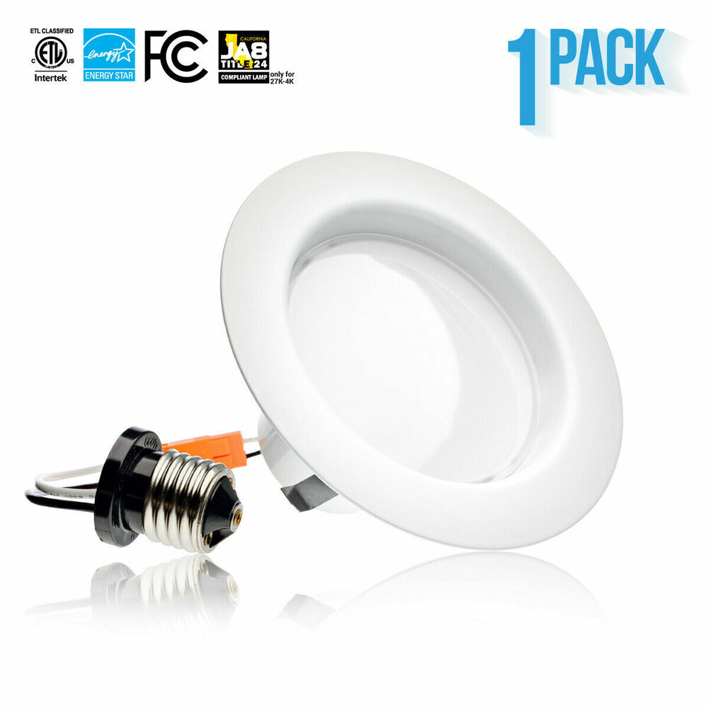 10 5w led recessed dimmable 4 inch retrofit down can light 19 ebay