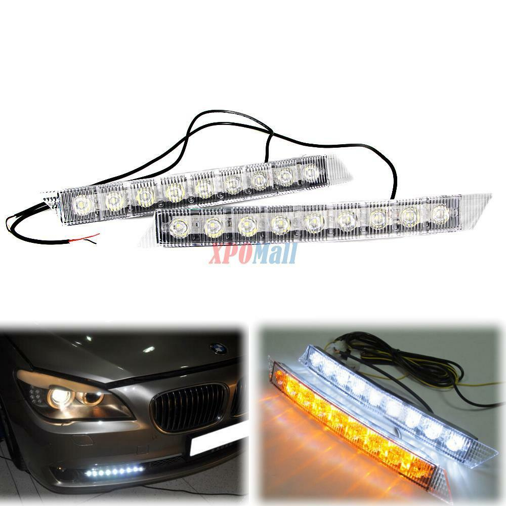9 led daytime running light drl fog lamp day lights. Black Bedroom Furniture Sets. Home Design Ideas