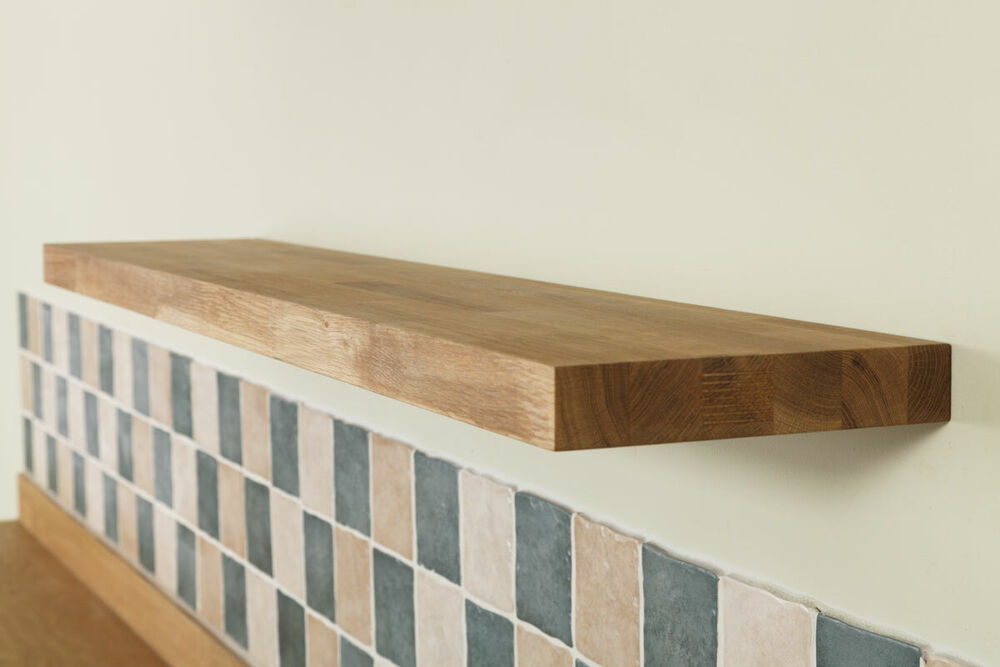 floating wood shelves solid oak wooden floating shelves 600mm x 200mm x 30mm 29010