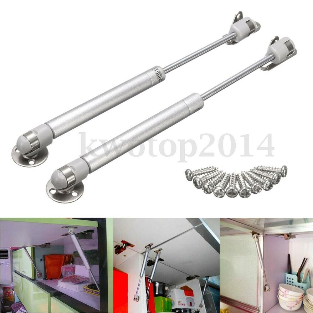 2x Gas Strut Lid Stay Support Kitchen Cabinet Door Toy Box