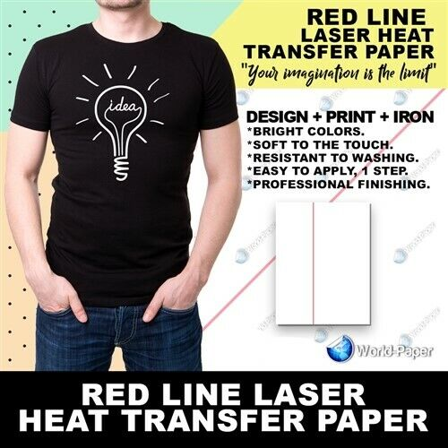 laser iron on transfer paper Does anybody know if there is a type of transfer paper (for ironing onto a t-shirt) that can be printed on with a laser printer instead of an ink jet.