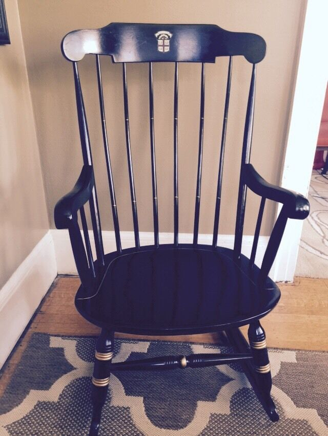 ... BROWN University Nichols & Stone Windsor Rocking Chair Rocker  eBay