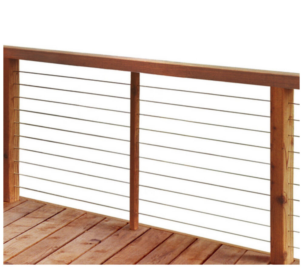 Stainless steel cable deck porch rail railing post frame