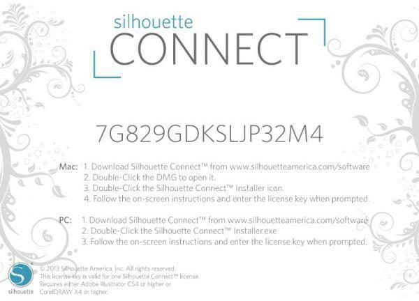 silhouette connect license code