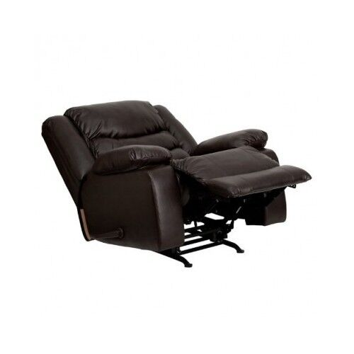 Oversized Leather Recliner Large Extra Wide Rocker Chair