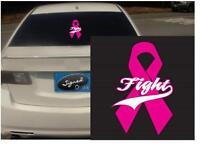 """(3) 2"""" fight ribbon vinyl Decal sticker any size color surface car wall S005"""