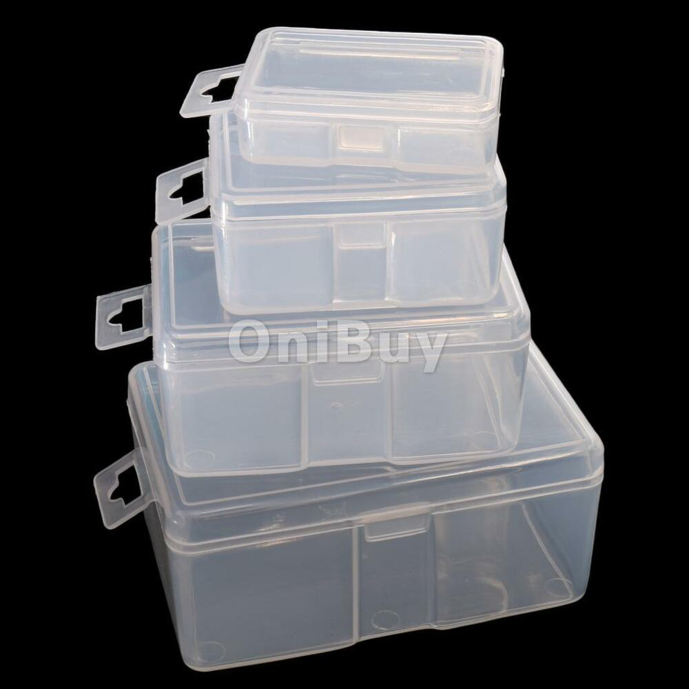 Set of 4 plastic fishing tackle box lures organizer for Fishing tackle storage