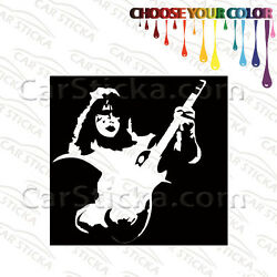2 of 5'' to 20'' Kiss Ace Frehley /A band artist car vinyl stickers decals die cut