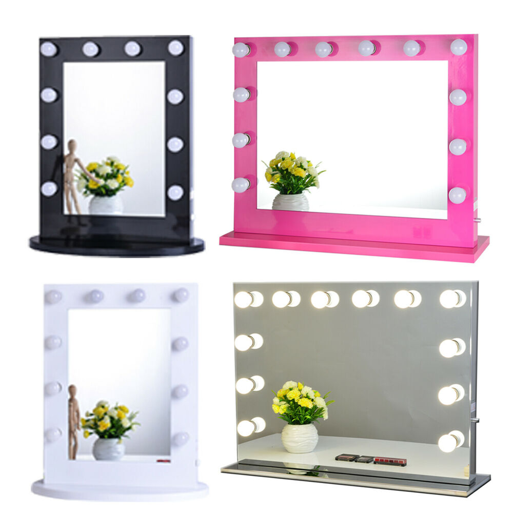 hollywood makeup vanity mirror with light aluminum stage beauty mirror ebay. Black Bedroom Furniture Sets. Home Design Ideas