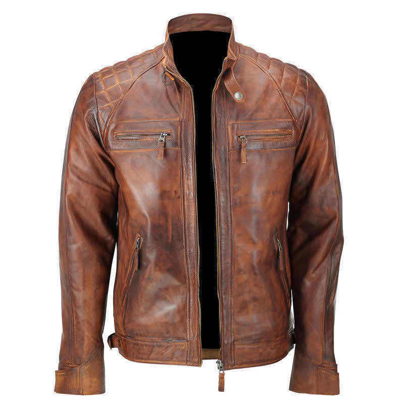 Classic Mens Vintage Motorcycle Jacket 117
