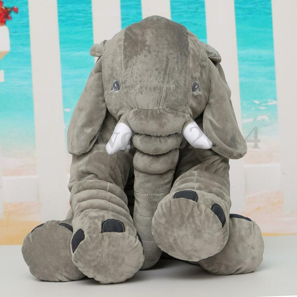 50cm large big elephant pillows cushion baby plush toy stuffed animal kids gift ebay. Black Bedroom Furniture Sets. Home Design Ideas