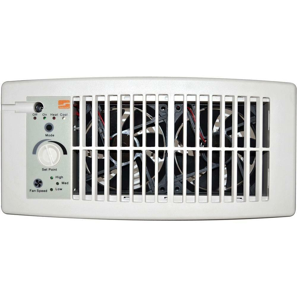 Flush Fit Register Booster Fan White Air Circulation