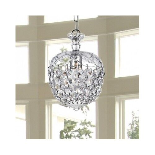 Crystal chandelier small light fixture ceiling pendant modern foyer dining room ebay - Modern pendant lighting for dining room ...