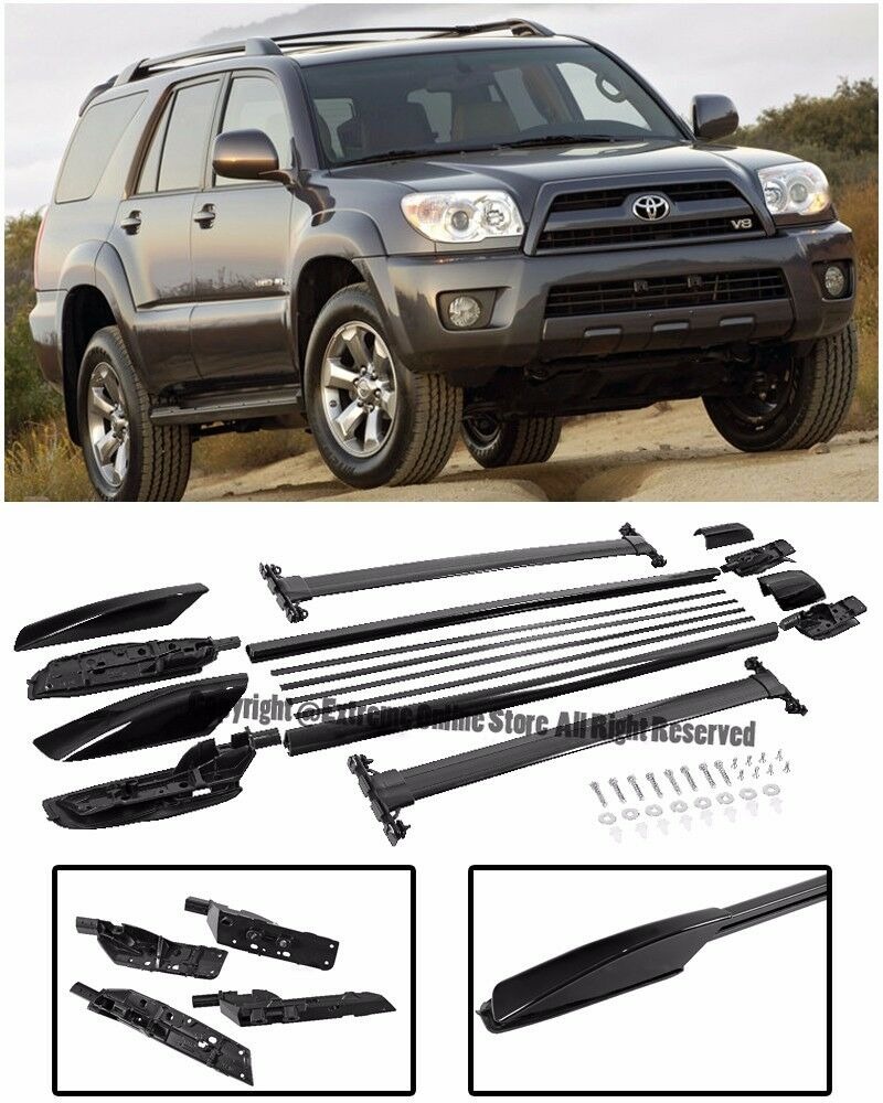 For 04 09 Toyota 4runner Complete Set Roof Rail Rack Cross