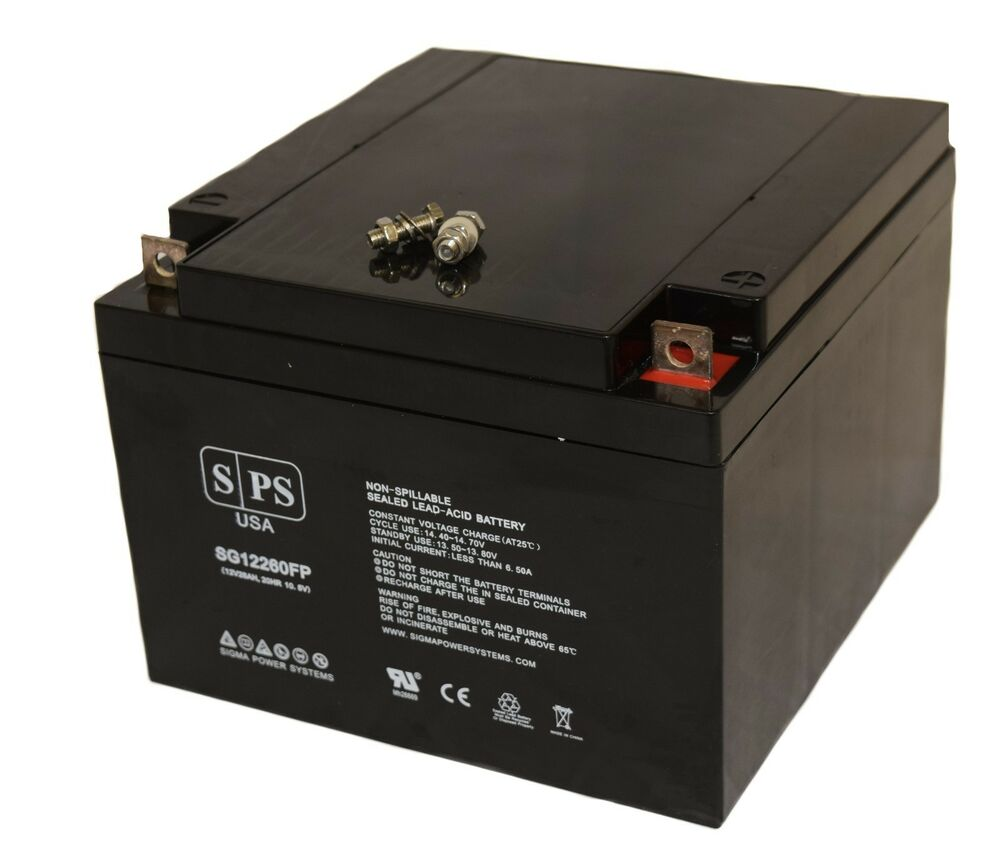 sps sg12260fp 12v 26ah sealed 12 volt deep cycle rechargeable battery ebay. Black Bedroom Furniture Sets. Home Design Ideas