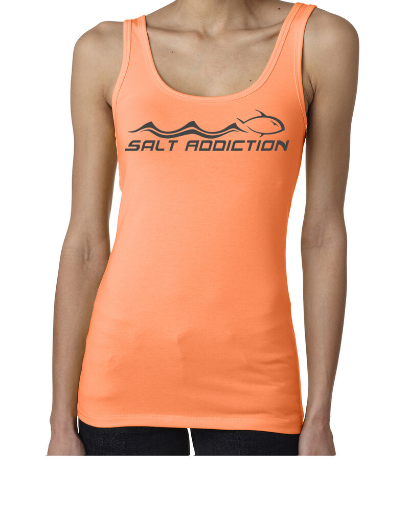 Salt addiction saltwater fishing women 39 s tank top offshore for Fishing tank top