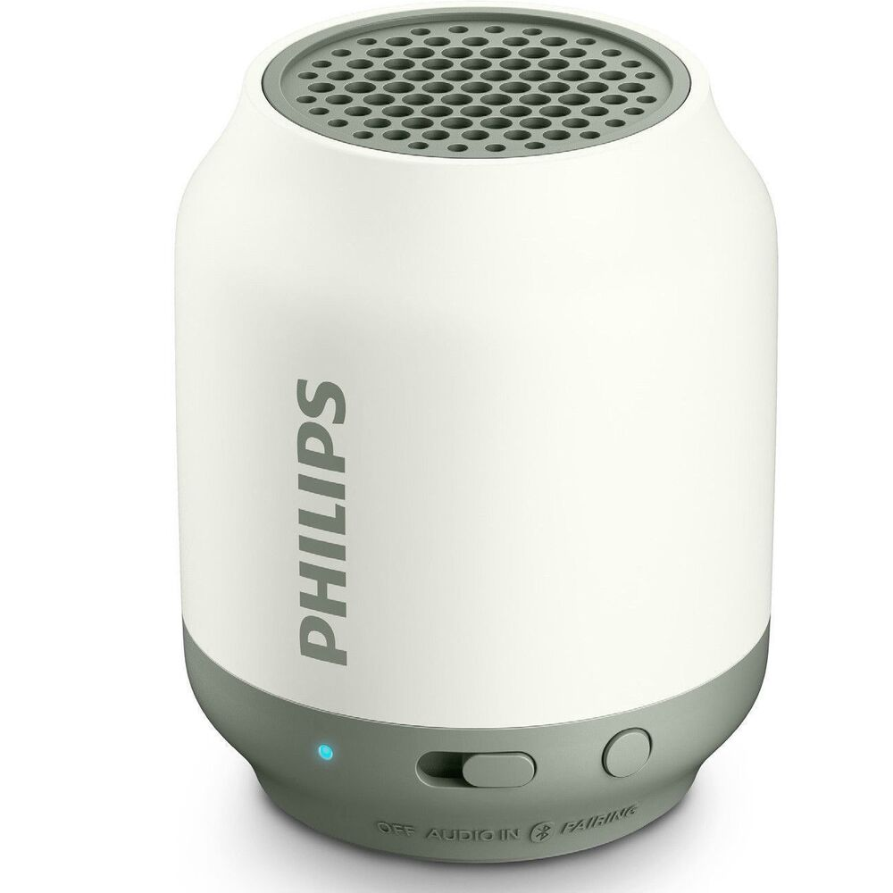 Philips Bluetooth Speaker Portable: Philips BT50W Wireless Portable Speaker Bluetooth Rechargeable 2W BT50 White