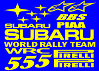 Subaru WRC style sticker decal set for a Snap on tool box - roll cab - chest