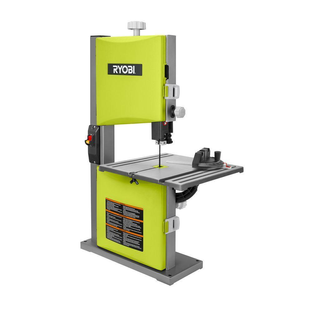 Ryobi 2 5 Amp 9 In Band Saw In Green Woodworking Bench