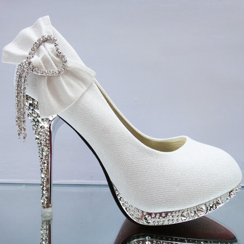 Lace white ivory crystal Wedding shoes Bridal flats low ...
