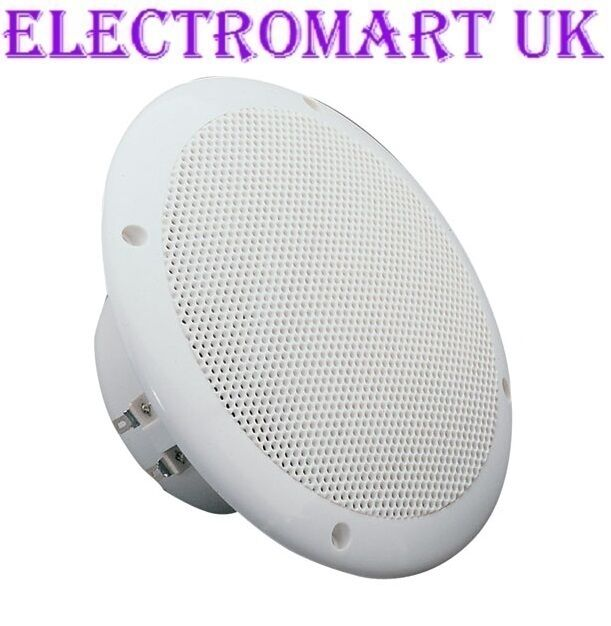 "WATER RESISTANT FULL RANGE CEILING SPEAKER 6.5""BATHROOM"