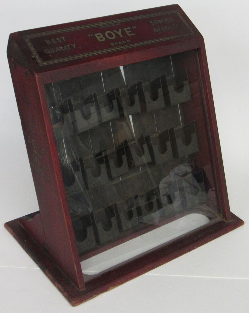 Rare Vintage Boye Needle Countertop Store Display Case