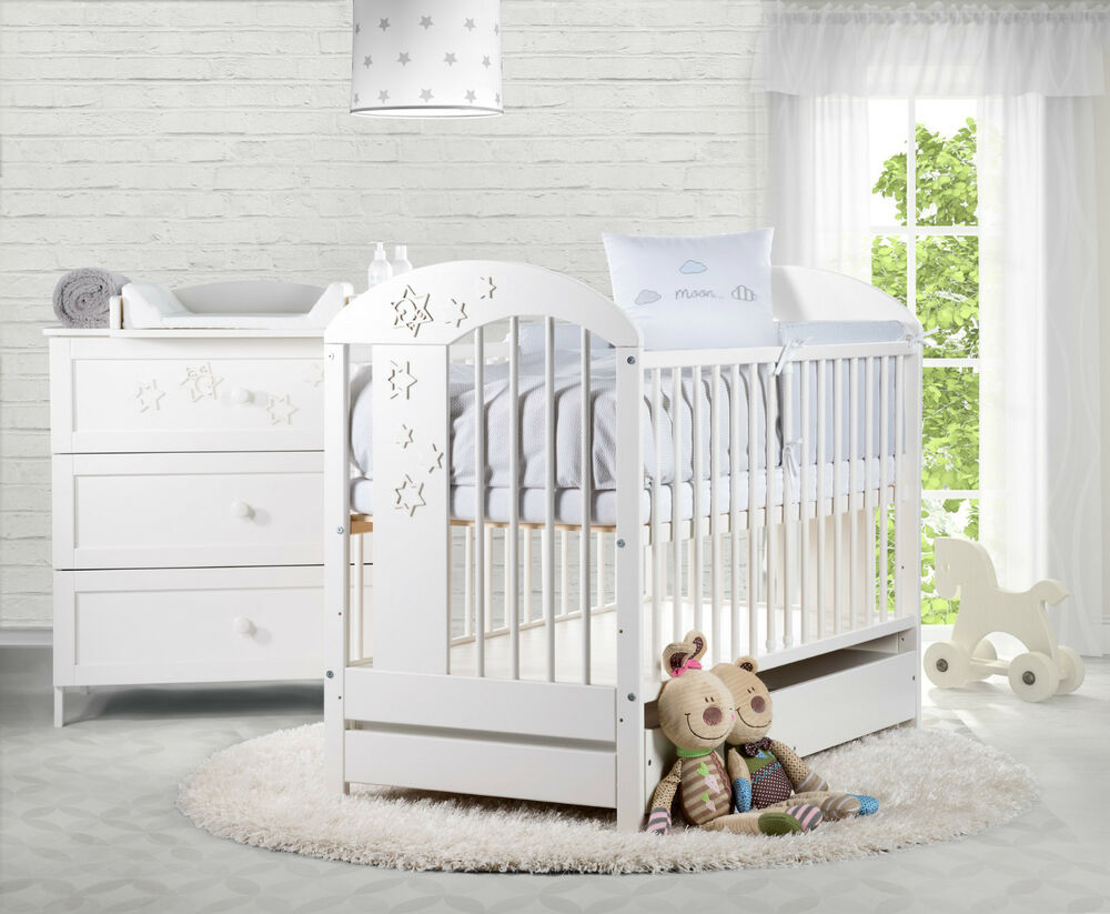 m belset wickelkommode babybett mit schublade babyzimmer wei babym bel kind neu ebay. Black Bedroom Furniture Sets. Home Design Ideas