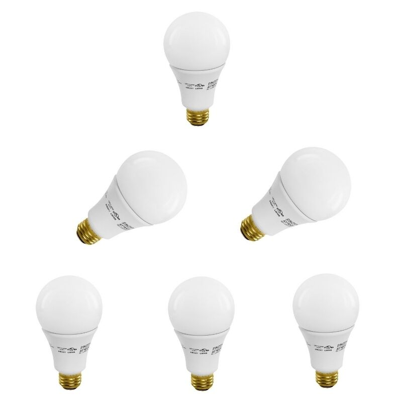 A21 3 way dimmable led light bulb warm white 16 watts 3000k 1600lm pack 2 4 6 8 ebay 3 way light bulbs