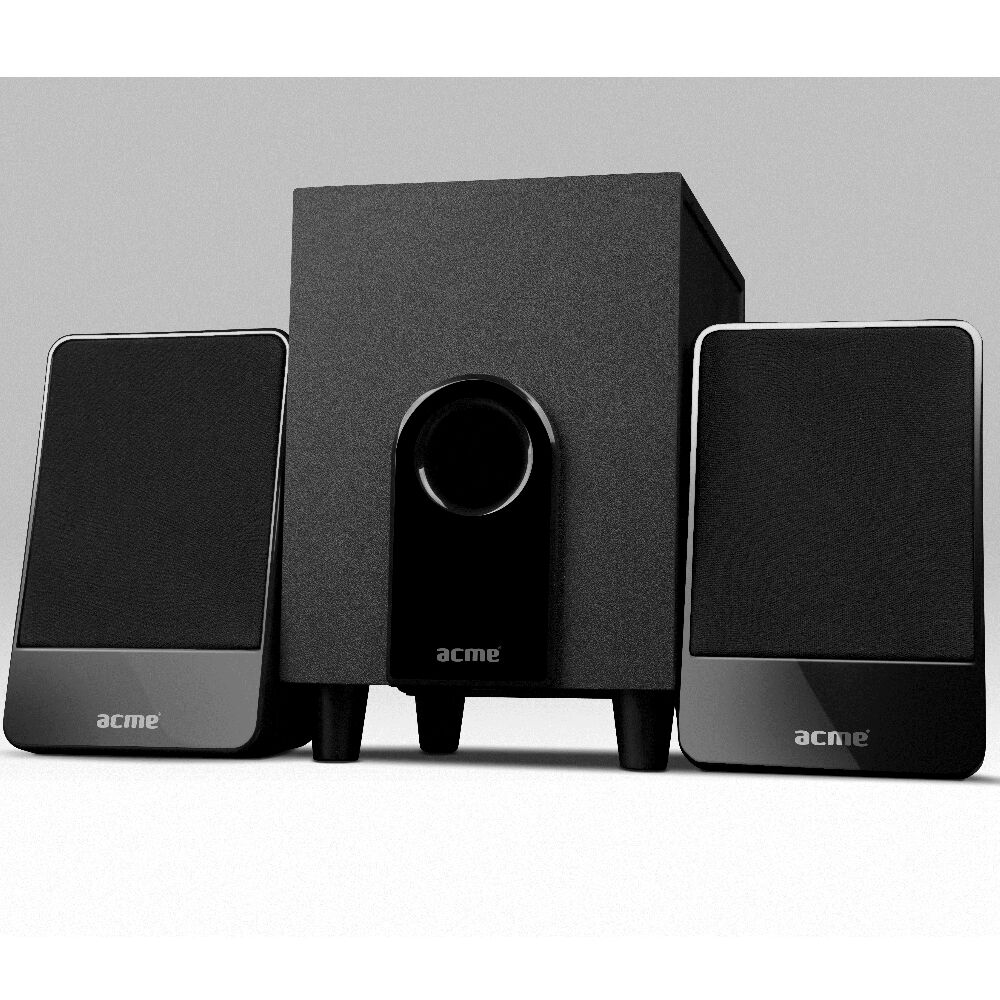 2 1 tv speaker system subwoofer compact surround sound. Black Bedroom Furniture Sets. Home Design Ideas
