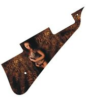 Pickguard Scratchplate Graphical Graphic Gibson Les Paul Guitar Leopard Girl New