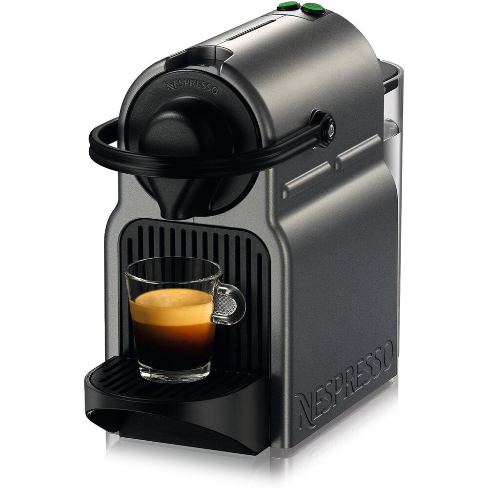 nespresso inissia espresso maker titan ebay. Black Bedroom Furniture Sets. Home Design Ideas