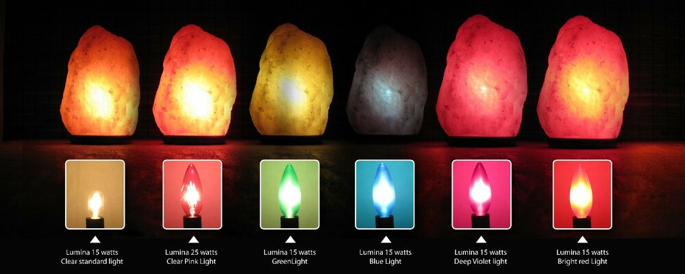 Himalayan Salt Lamp Deep Color Light Bulb 15 Watt Torpedo