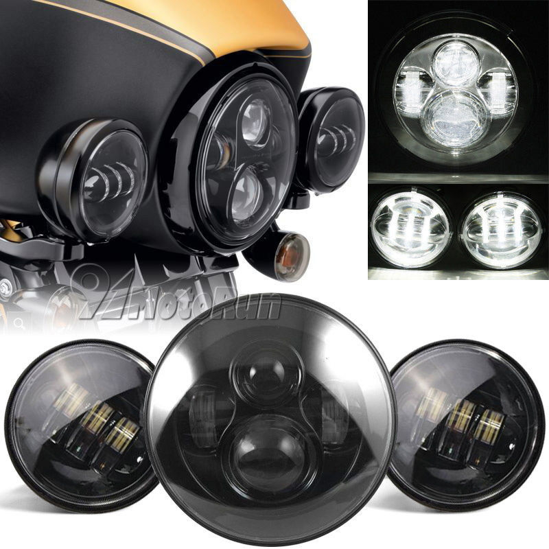 7 motorcycle led projector daymaker headlight passing. Black Bedroom Furniture Sets. Home Design Ideas